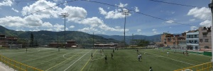 Bren joins the locals boys in a football game. The most scenic football pitch ever!