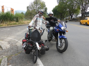 Jorge gave us a moto escort out of the city