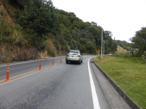 Sometimes, there are bollards bolted into the middle of the road so vehicles either have to slow down and let us through or run us off the road. Most choose the latter