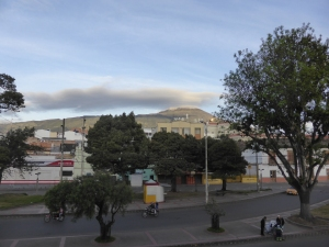 View of the volcano from the Pasto bomberos