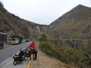 After 36km of downhill in the freezing wind, we start to warm up on the climb back out of the valley