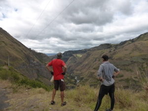 Looking back at the hard slog uphill