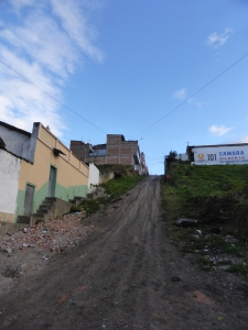 Our last stop in Colombia -the town of Ipiales. Some very steep streets!