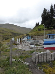 After 30km of riding solely uphill,we treated ourselves to a dip in these thermal baths