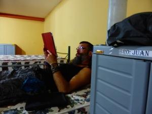 Tucked into our bunks at Estacion Bomberos Yantzaza
