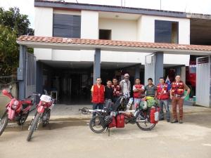 With the Bomberos of Yantzaza