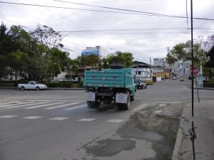 The gravel truck
