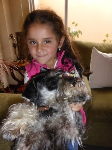 The amazing Aleida with Coco the wonder dog