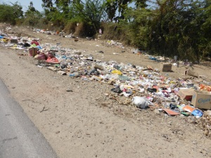 We have been overwhelmed by the amount of roadside rubbish dumps. This is just one small one. they spill down the sides of moutnains and stink up gorgeous valleys. Its a shocker. This change of environmental conciousness is hard to swallow.