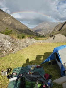 The rainbow at the end of a hard days riding