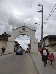 Arriving in the old town of Cajamarca