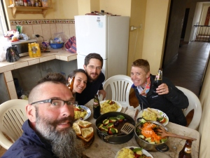 We randomly met again  with Ben & Tina a few days after Pallasca and they cooked us a feast of 'off bike' goodies including mash potatoes, roasted tomatoes with cheese basil and olives & fresh salad. TREAT!