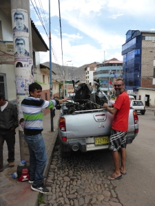 Arriving in Cusco with legend Gary. The safest driver in Peru for sure. Thanks Gary!