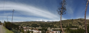 Looking back at the mountains over Huaraz