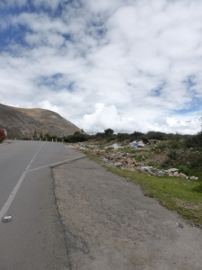 Dumping rubbish on the side of the road in Peru is a huge problem.