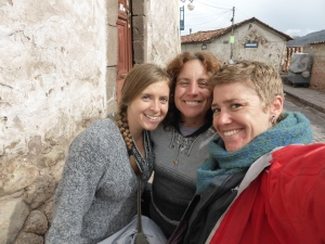 In Cusco with amigas Shannon (who we met couch surfing in Huaraz) and Claire