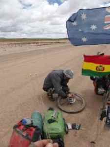 3 spokes to repair in the middle of nowhere as a storm approaches