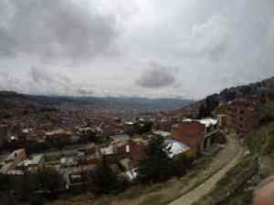 City of La Paz from El Alto