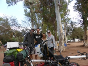 The very lovely Celeste y David from Buenos Aires.We met at 2 different camp sites & they were shocked to hear of our many failing tires so gifted us their spare as they were at the end of their journey. Legends!