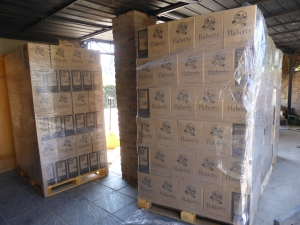 Cases and cases of delicious hand made Flaherty wine