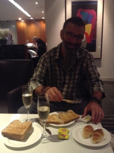 Vegemite croissants & champagne for breaky in Auckland