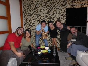 Juane insisted that we spent our last night in Santiago at his house tasting his Pisco selection. A fine time!