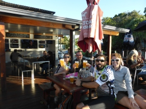 Beers with Jen & Derek in Murbah after our ride together