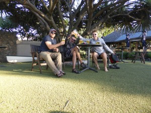 Beers with Chel in Byron after our return from Murbah