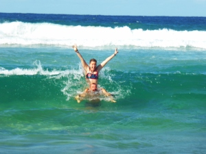 Digging the sun & surf at Cabarita beach