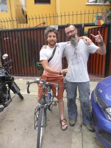 Bren with Kev in Lima, Peru 2014