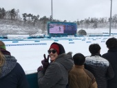 At the Biathlon